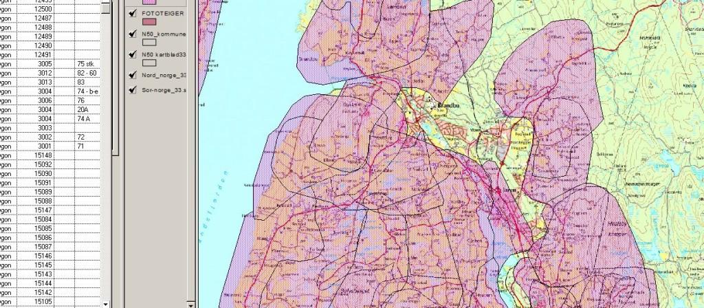 Skjermdump av kart med polygoner